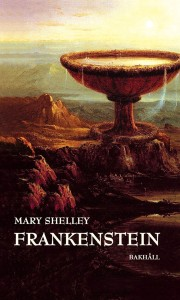 Omslaget till boken Frankenstein av Mary Shelly.